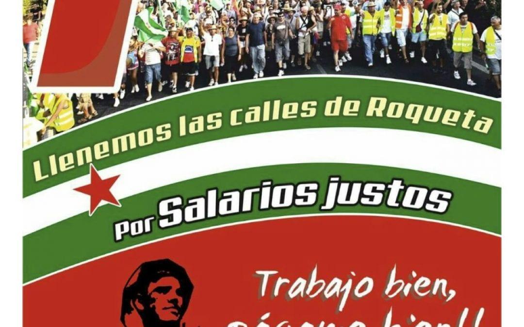 CONVOCATORIA MANIFESTACION 1º DE MAYO EN ROQUETAS