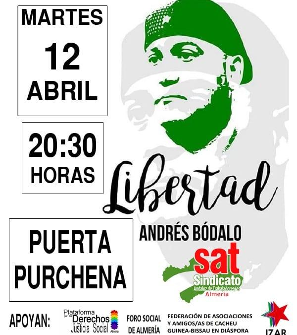 EN ALMERÍA, TODOS POR LA LIBERTAD DE ANDRÉS BÓDALO